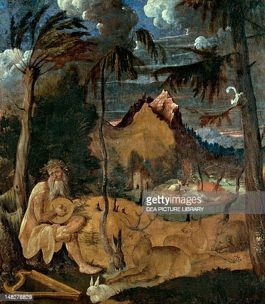 Orpheus charming the animals with music by Hans Leu the Younger Basel Kunstmuseum