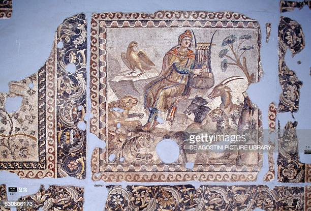 Orpheus mosaic from Tarsus Roman civilisation 3rd century BC Antakya Hatay Archaeology Museum