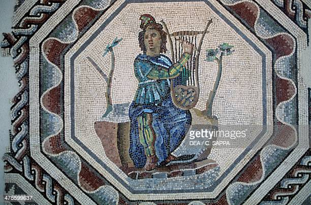 Orpheus playing the lyre mosaic from the House of lilies SaintRomainenGal Vienne RhoneAlpes France Roman 2nd century AD Vienne Musée D'Archéologie Et...