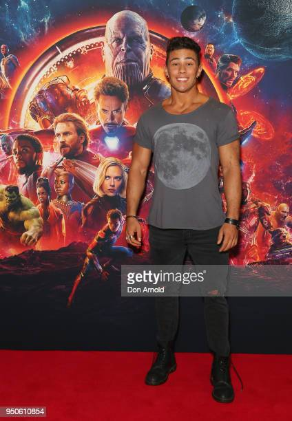 Orpheus Pledger attends the Avengers Infinity War Special Event Screening on April 24 2018 in Sydney Australia
