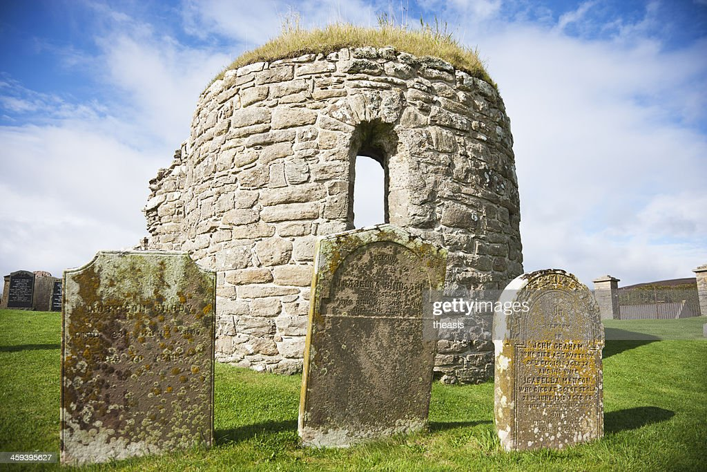 Orphir Round Church, Orkney : Stock Photo