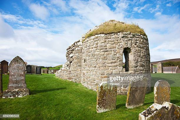 orphir round church, orkney - theasis stock pictures, royalty-free photos & images
