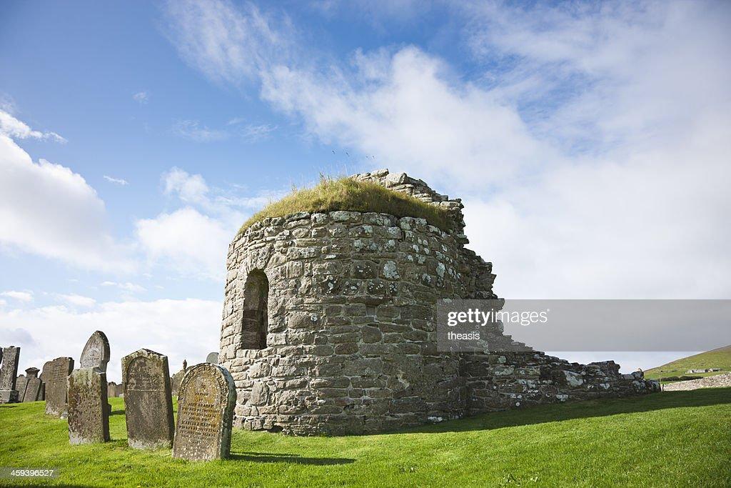 Orphir Round Church, Orkney : Stock Photo