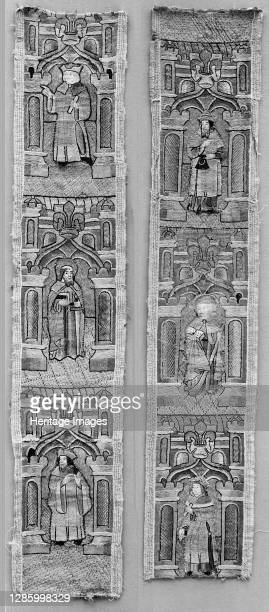 Orphreys from a Cope, British, 15th century. Artist Unknown.
