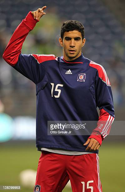 Orr Barouch of the Chicago Fire warms up prior to the match against the Seattle Sounders FC in the 2011 Lamar Hunt US Open Cup Final at CenturyLink...
