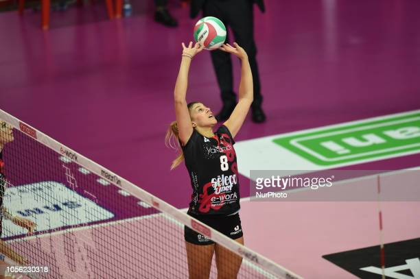 Orro Alessia from Unet EWork Busto Arsizio playing during Samsung Serie A volley match in PalaYamamayMaria Piantanida palasport in Busto Arsizio...