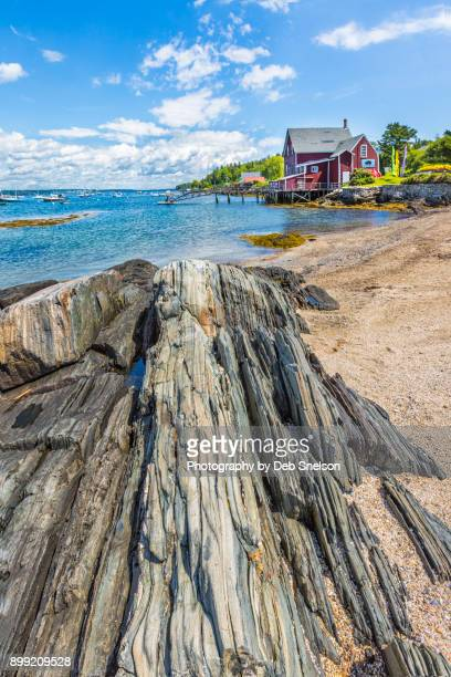 orr's island from princes point - portland maine stock photos and pictures