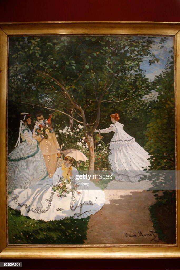 Claude Monet. Women In A Garden. Oil On Canvas, C