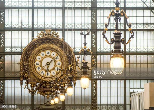 orsay museum (musee d'orsay) clock. paris, france - musee d'orsay stock pictures, royalty-free photos & images
