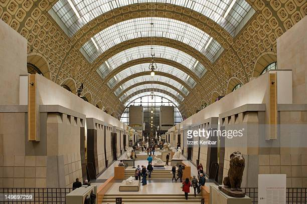 orsay museum interior. - musee d'orsay stock pictures, royalty-free photos & images