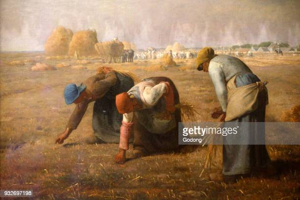 Orsay Museum JeanFrancois Millet The Gleaners Oil on canvas 1857 France Paris France