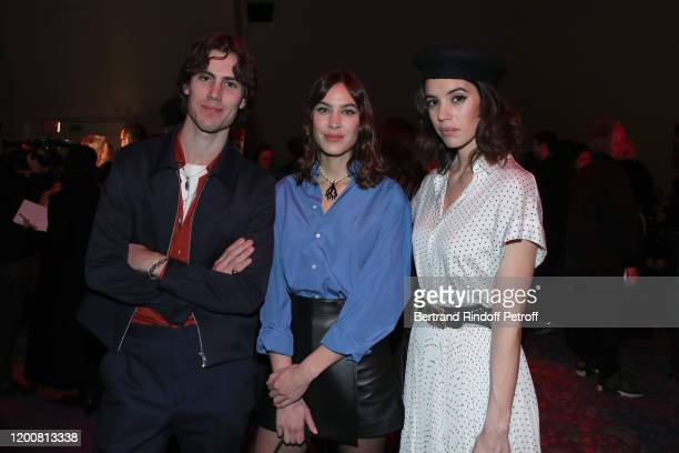 Orson Fry Alexa Chung and Gala Gordon attend the Dior Haute Couture Spring/Summer 2020 show as part of Paris Fashion Week on January 20 2020 in Paris...