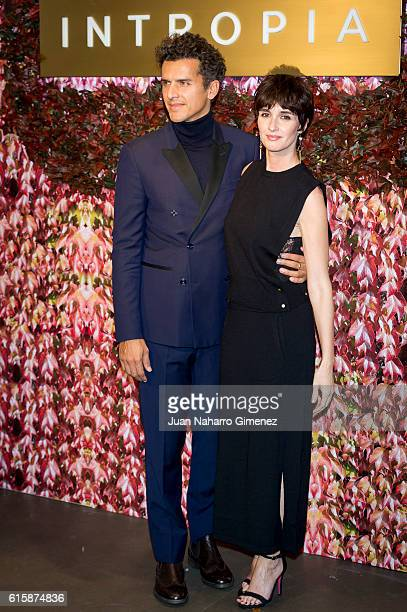 Orson Salazar and Paz Vega attend Intropia party at Intropia store on October 20 2016 in Madrid Spain