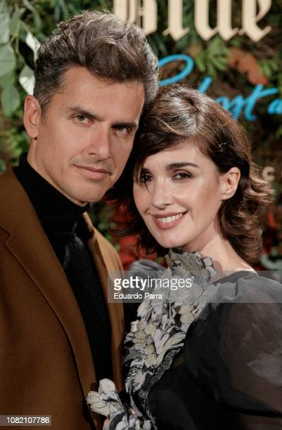 Orson Salazar and Paz Vega attend the 'Johnnie Walker Blue Label GhostRare Port Ellen' photocall at Fernan Nunez palace on December 13 2018 in Madrid...