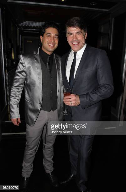 Orson Salicetti and actor Bryan Batt attend The Art of Mixology at Covet on April 1 2010 in New York City