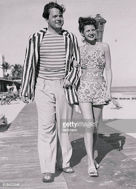 Orson Welles and Rita Hayworth found Miami Beach the best place to recuperate he from jaundice and she from flu contracted in California Welles says...