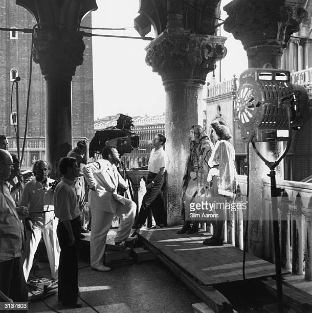 Orson Welles directing Othello on location in Venice