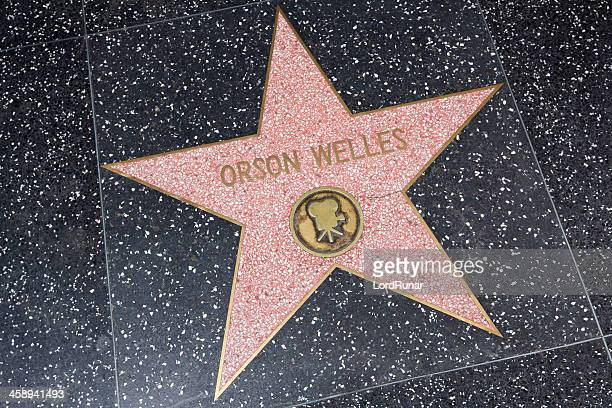 orson welles, walk of fame - orson welles stockfoto's en -beelden