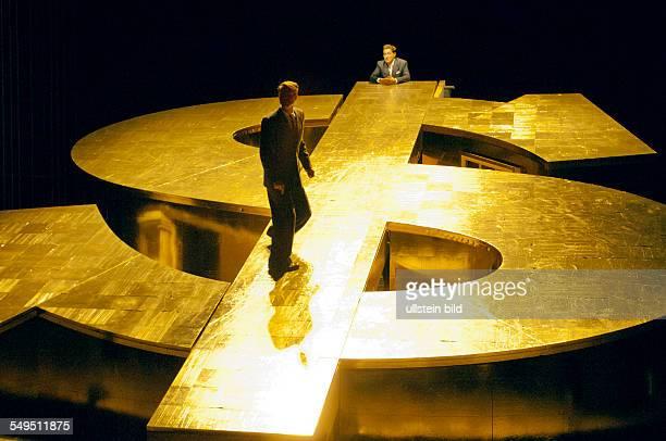 Deutsches Theater Kammerspiele Berlin Titel Capitalista Baby Autor Ayn Rand Regie Tom Kuehnel Juergen Kuttner Buehne Jo Schramm Kostueme Daniela...