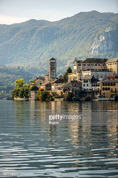 orta san giulio island - piedmont italy stock pictures, royalty-free photos & images