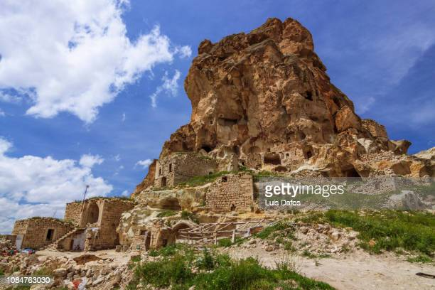 ortahisar rock castle - dafos stock photos and pictures