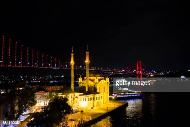 Ortakoy Mosque and Bosphorus Bridge in the background istanbul, Turkey