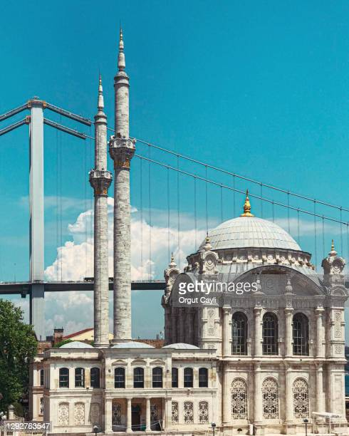 ortakoy mosque in daylight - orgut cayli stock pictures, royalty-free photos & images