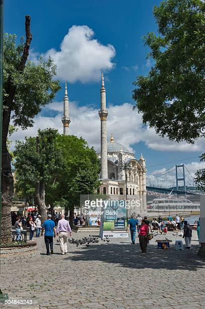 Ortakoy Mosque, officially the Buyuk Mecidiye Camii,Grand Imperial Mosque of Sultan Abdulmecid in Besiktas, Istanbul, Turkey, is situated at the...