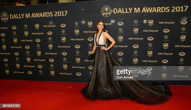 Ortenzia Borre arrives ahead of the Dally M Awards at The Star on September 27 2017 in Sydney Australia