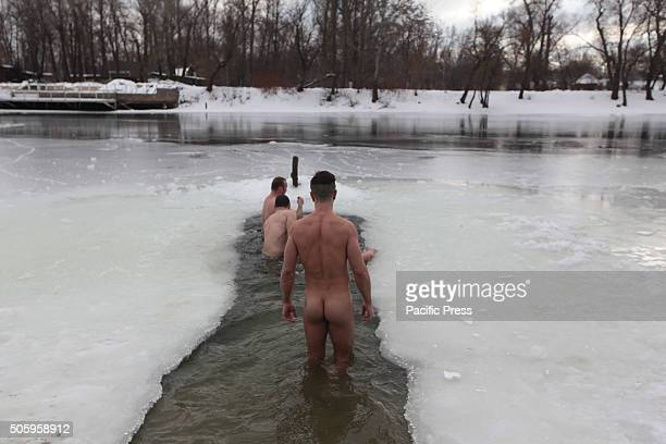 Orthodox believer take a bathe in cold water during Epiphany celebrations During Epiphany some people believe that the waters have special curative...