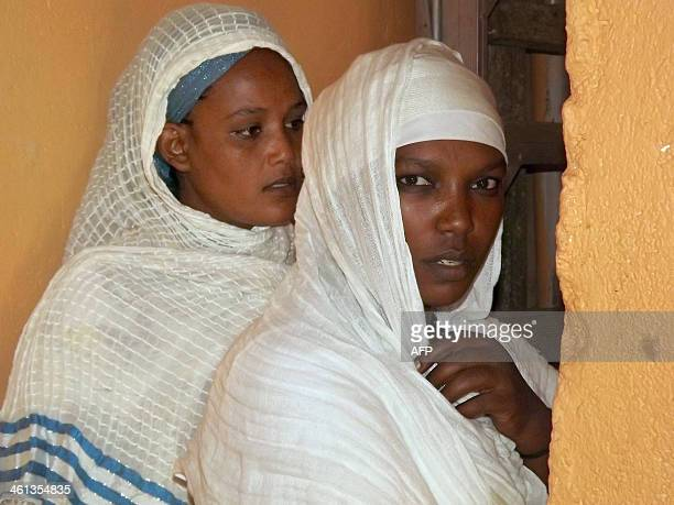 Orthodox Christian Ethiopian women gather to celebrate the birth of Christ in the South Sudanese capital of Juba on January 7 2014 The Ethiopian...