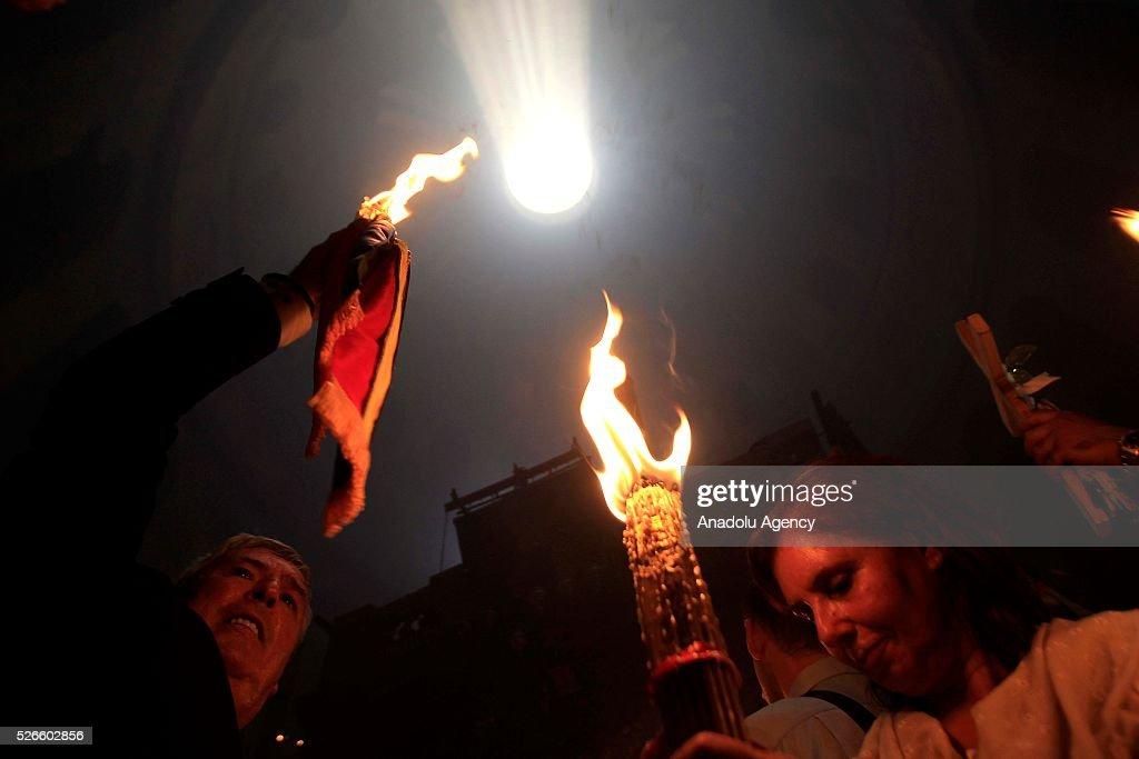 Holy Saturday in Ramallah  : News Photo