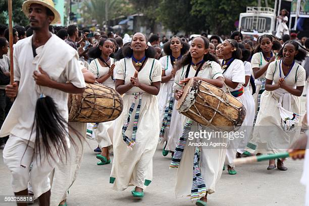 Orthodox Christians observe the Ashenda Festival marking the end of a twoweeklong fast known as Filseta in Mek'ele city Tigray region of Ethiopia on...