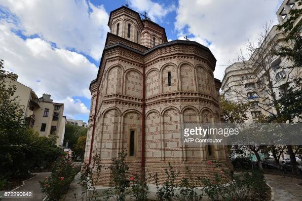 Orthodox church MihaiVoda built in 1594 by Prince Michael the Brave which was moved some 289 metres is pictured in Bucharest Romania on October 30...