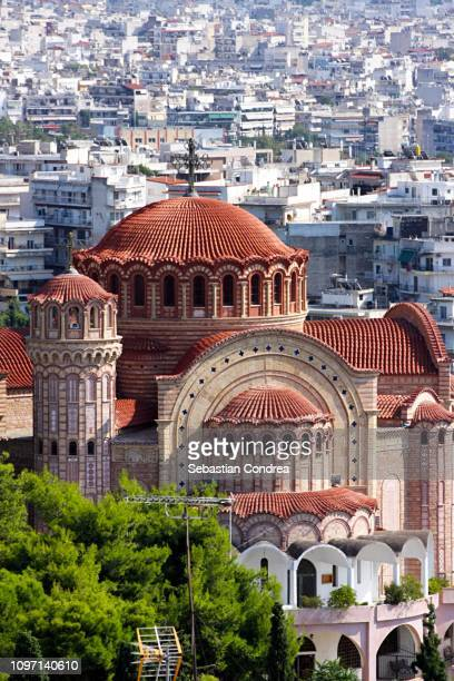 orthodox church of saint pavlo, thessaloniki,discovering greece - thessaloniki stock pictures, royalty-free photos & images
