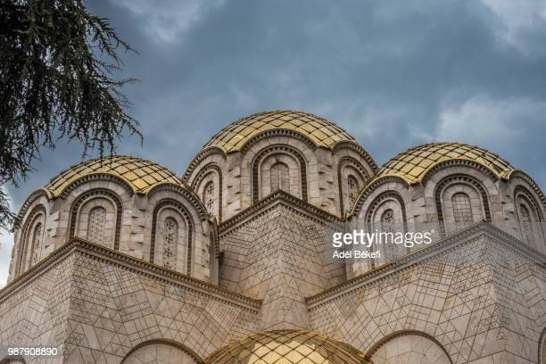 orthodox church of saints constantine and elena - skopje stock pictures, royalty-free photos & images