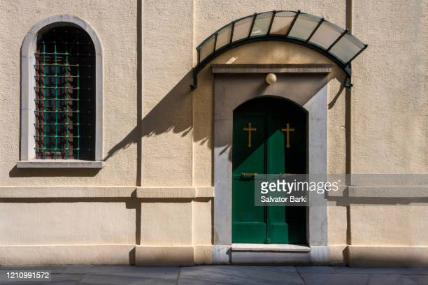 orthodox church of the entry of the holy theotokos into the temple - greek orthodoxy stock pictures, royalty-free photos & images