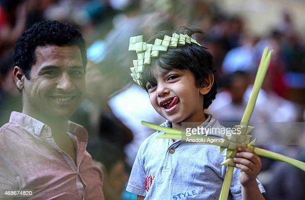 Orthodox Coptic Christians attend the Easter Mass at Simon Kheras Church in Mokattam southern of Cairo Egypt on April 05 2015