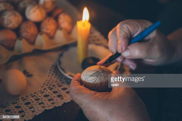 orthodox easter eggs decoration - easter orthodox stock photos and pictures