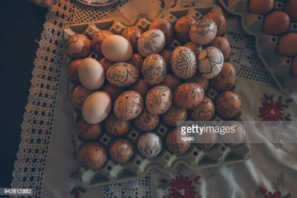 orthodox easter eggs decoration - orthodox church stock pictures, royalty-free photos & images