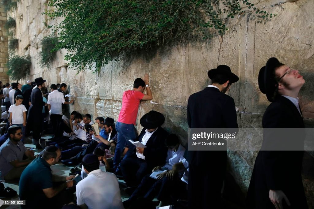 ISRAEL-PALESTINIAN-CONFLICT-RELIGION : News Photo