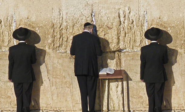 Orthodox Jewish Prayers At Western Wall Jerusalem Wall Art
