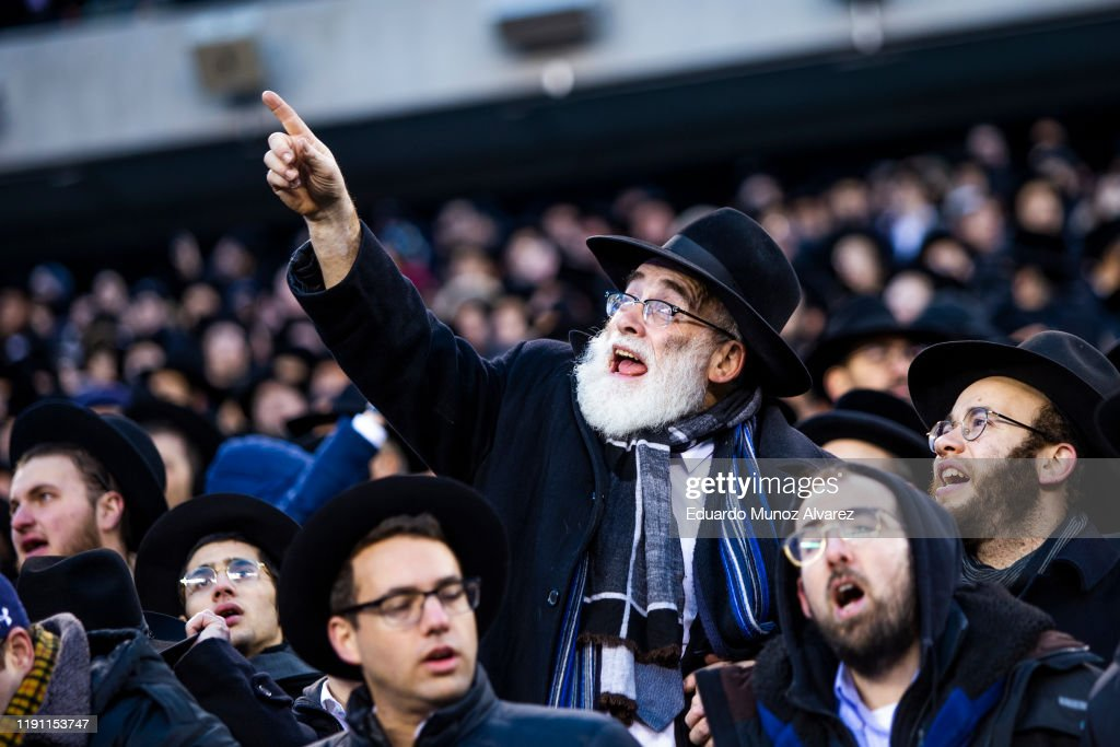 Security Heightened As Tens Of Thousands Gather For Jewish Celebration Of Siyum HaShas : ニュース写真