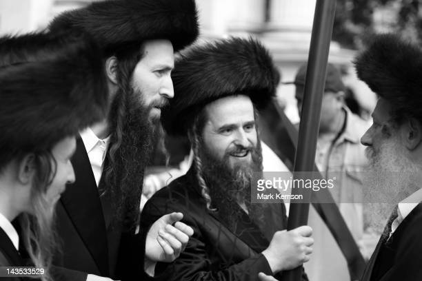 Orthodox Jews belonging to Neturei Karta at the annual Al-Quds march in London.