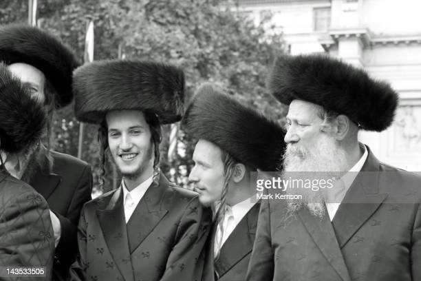 Orthodox Jews belonging to Neturei Karta prepare for the annual Al-Quds march in London.