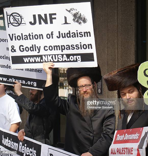 CONTENT] Orthodox Jews members of Neturei Karta were among the approximately 150 people who protested against the Jewish National Fund in Denver The...