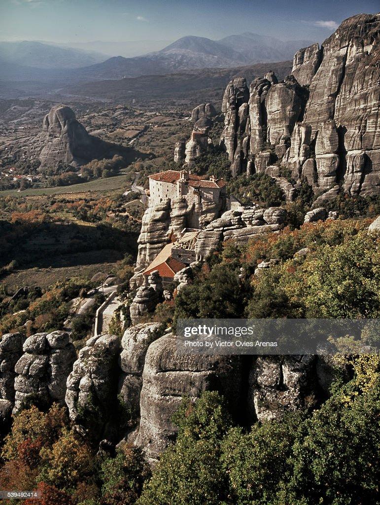 Orthodox Monasteries in Meteora : Stock Photo
