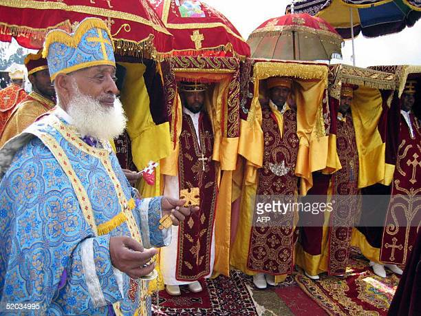 Orthodox priests each of them carrying hidden in his costume a copy of the Arch of Covenant on which the 10 commandments are written take part 19...