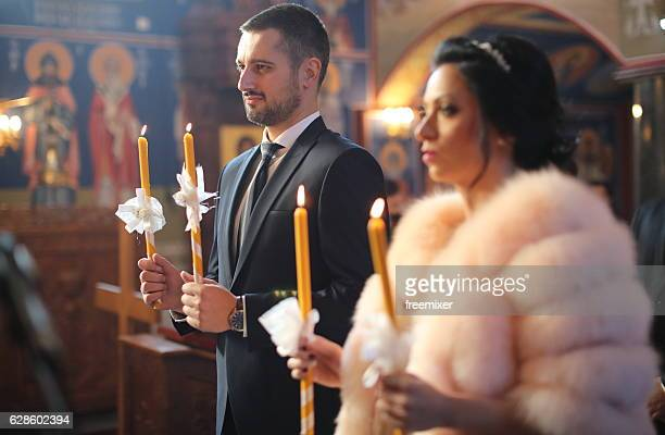 orthodox wedding ceremony - orthodox church stock pictures, royalty-free photos & images