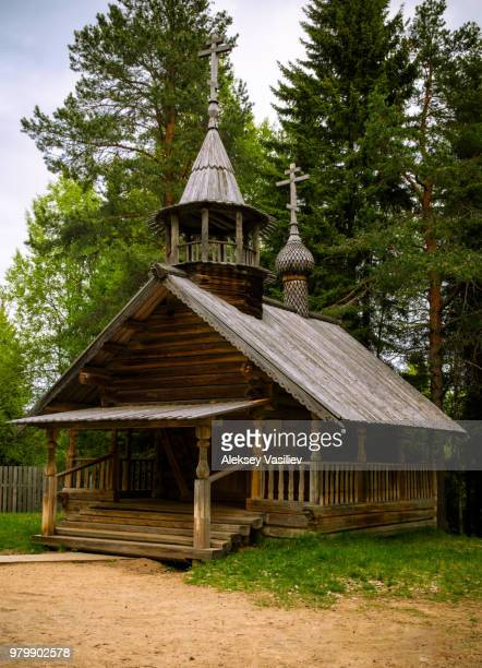 Orthodox wooden church in Malye Korely, Primorsky District, Arkhangelsk Oblast, Russia